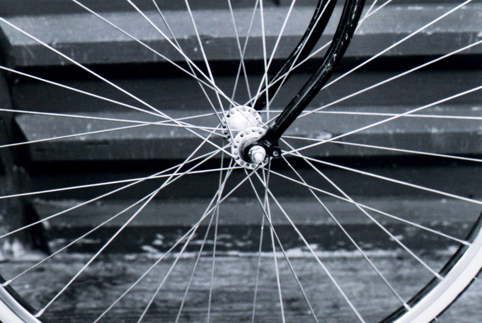 Close up of front wheel